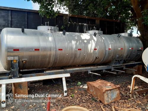 Tanque Inox 12.000 L 7 Metros C/ 3 Compartimentos Ano 2000