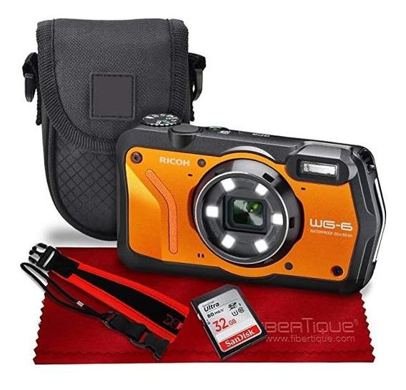Camara Ricoh Wg-6 20mp Waterproof Shockproof Digital Orang ®
