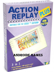 Action Replay Plus Sega Saturn+desbloqueio Pseudo+02 Jogos