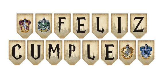15 Banderines Harry Potter Personalizados