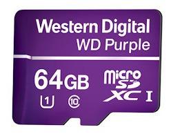 Cartão De Memória Micro Sd Intelbras 64 Gb Wd Purple