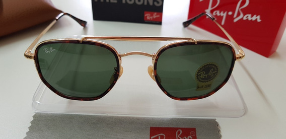 Óculos De Sol Ray-ban Marshal Rb3648m Verde G15 001 Original