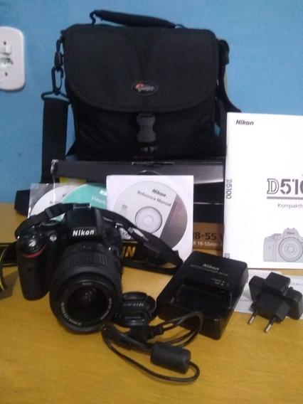 Máquina Fotográfica D5100, Semi Nova Com Manual E Acessórios