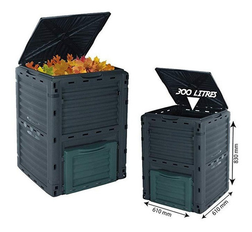 Compostera Compostador Plástico Para Compost 300l Buho Store