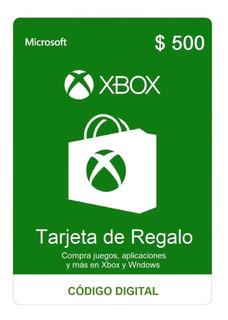 Tarjeta De Regalo $500 Pesos Xbox One