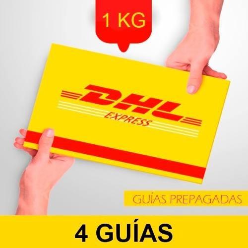 4 Guía Prepagada Día Siguiente Dhl 1kg + Recolección Gratis