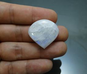 60,34 Cts Rainbow Moonstone Pedra Da Lua Coração 30,3x28,5