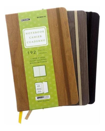 Notebook  Tapa Dura Con Bolsillo Interno 192 Paginas De Lujo