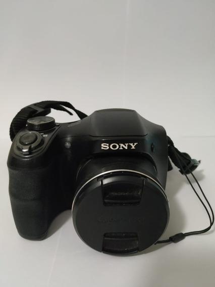 Câmera Sony Cyber Shot H100 + Bolsa + Cartão De Memória 2gb