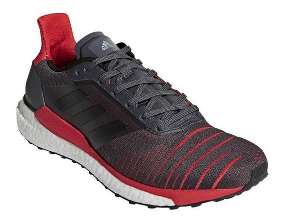 Tênis adidas Solar Glide - Masculino - Chumbo/vermelho