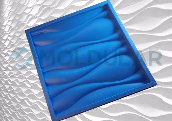 Forma De Silicone Para Gesso 3d Dunas / Ondas