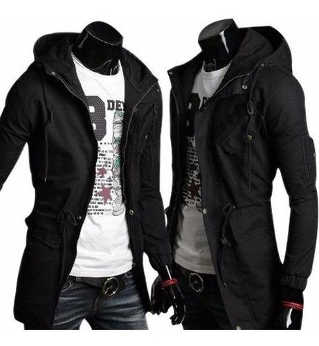 Chaqueta Militar Negra Fashion Casual Jacket Warm Winter Coa