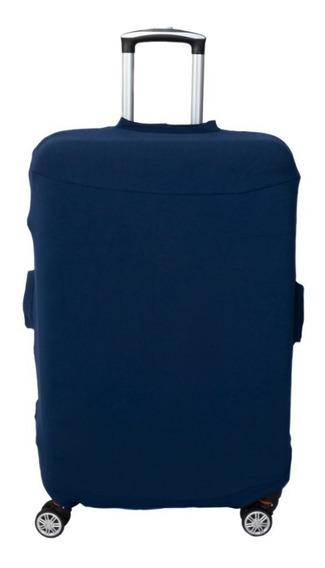 Capa Para Malas De Viagem T.m/ Azul / Tecido Neoprene