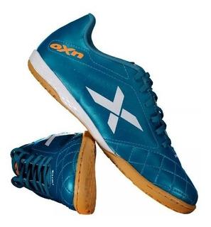 Chuteira Oxn Rio Futsal Indor Azul