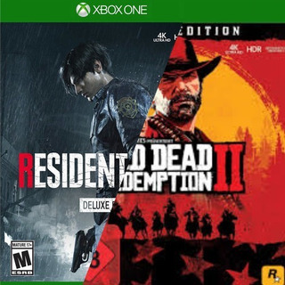 Resident Evil 2 Xbox One Deluxe + Red Dead Redemption 2
