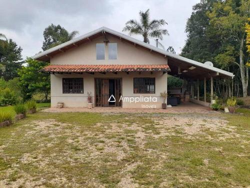 Belíssima Chácara Com Casa Em Ótima Localização. - Ch0098