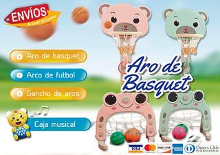 Aro De Basquet Infantil - Juego De Bebé O Niño
