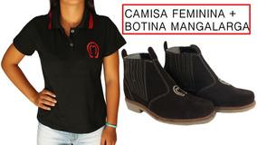 Kit Mangalarga Camisa Peao Mangalarga + Botina Bota De Couro