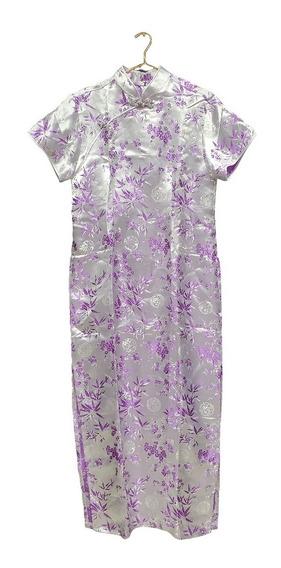 Vestido Longo Chines Tradicional Promoção Comprido