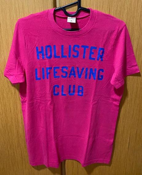 Camiseta Hollister Original Importada - M Rosa