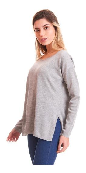 Tokyo Sweater Liso Con Tajos Dama Mujer Abrigo Martina Gm