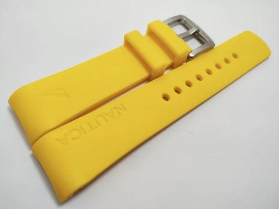 Pulseira Nautica Amarela 22mm Com Fecho