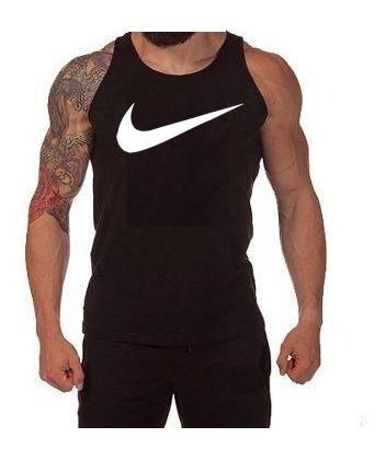 Kit C/05pç Camiseta Regata Masculina Nike Algodão + Frete