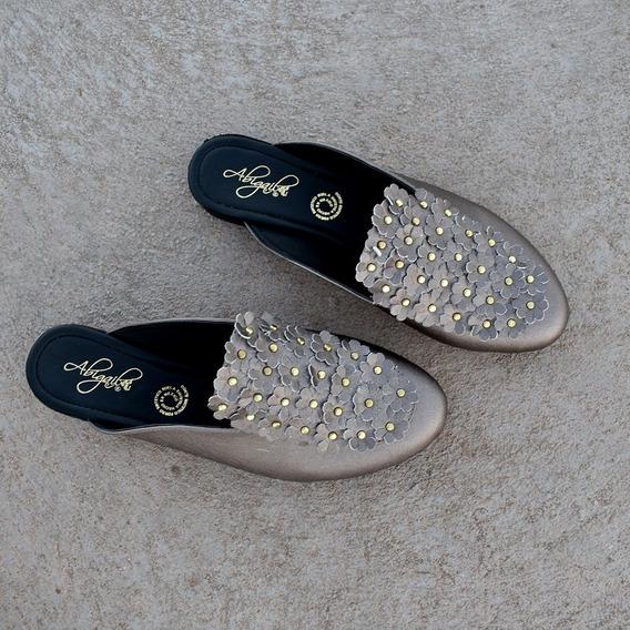 Zapatos Dama Fltas Oro Rosado O Antimonio Mona Shoes 914