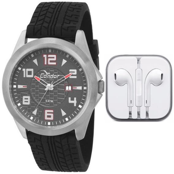 Relógio Masculino Condor Analógico Co2115tw/k8r -prata/preto