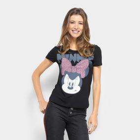 da3eea5e60 Blusa Minnie Disney Manga Curta Feminina