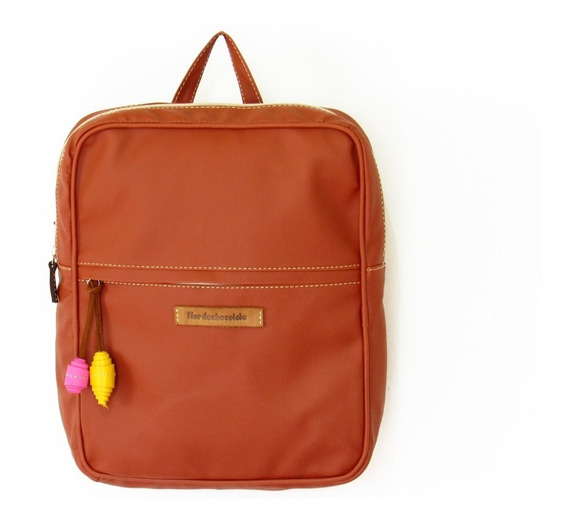 Bolsos Morrales Dama Flor De Chocolate Backpack Canela