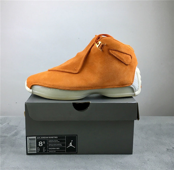 Air Jordan 18 Orange Suede Retro Toro