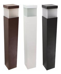 Poste Luminária Balizador Em Alumínio Para Jardim 50cm St222
