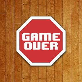 Placa Decorativa Gamer - Game Over