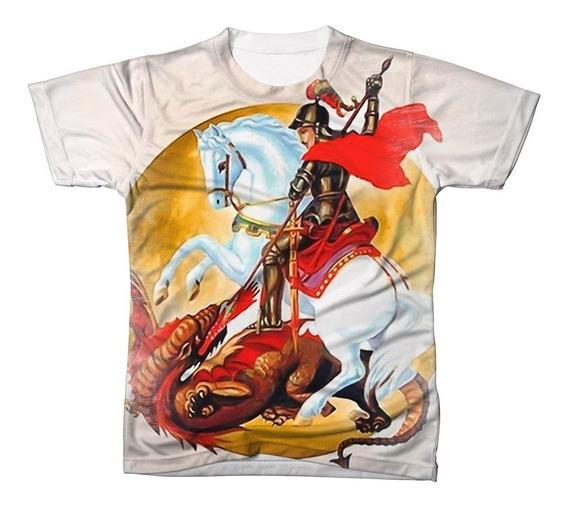 Camisa Camiseta Católica São Jorge Cavalero