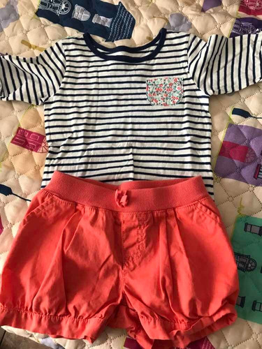 Short Y Remera Niñas Talle 4/5 Impecable