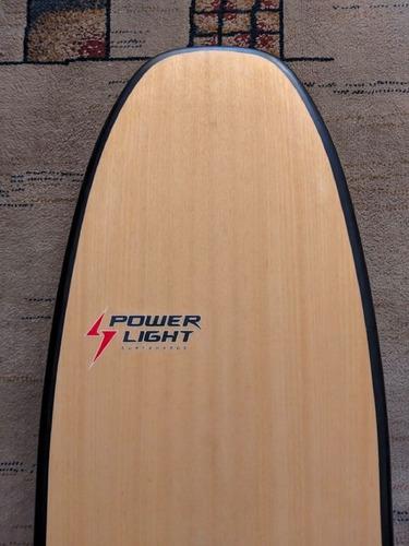 Prancha Surf Powerlight Simétrica Eps Epoxy Madeira Plug Fcs