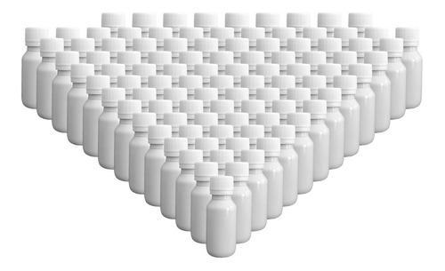 Imagen 1 de 2 de 100 Pack Botella Plástico 40 Ml Blanco C/tapa