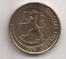 Finlandia Moneda De 1 Markka Año 1996