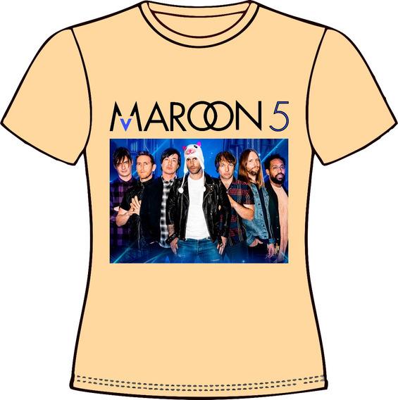 Camiseta, Baby Look Ou Almofada Maroon5 02