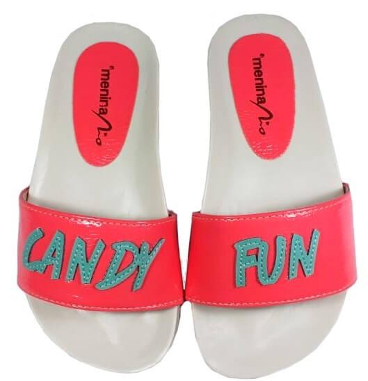 Chinelo Infantil Slide Candy Fun - Menina Rio