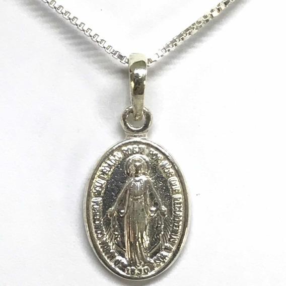 Medalha Nossa Senhora Das Graças Prata 925 (40-1)