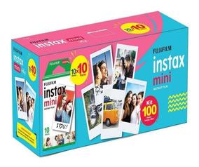 Kit Filme Instax Mini Fujifilm - Pack Com 100 Unidades