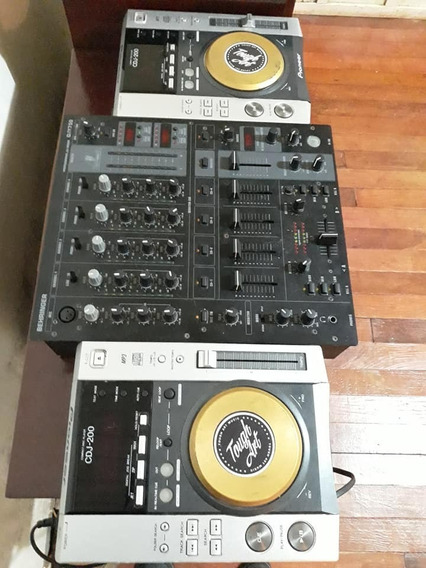 Par De Cdj 200 Pioneer E Mixer Behringer Djx750 4 Canais.