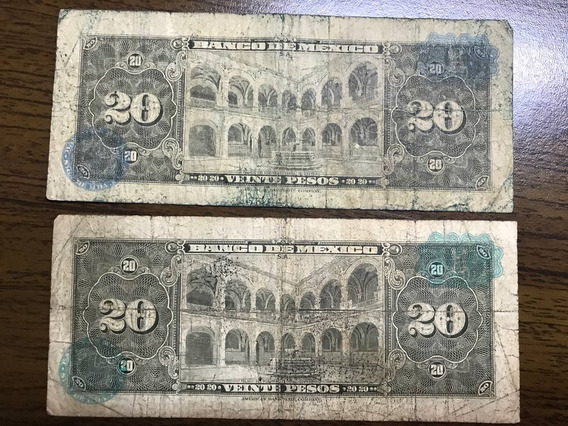Billete México 20 Pesos (2 Pzas ) Año 1963