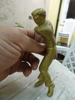 Antigua Figura Jugador Golf Sin Brazos Bronce Diseño 470 Grs