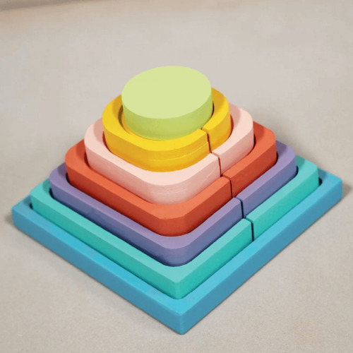 Pirámide Encastres - Juego Montessori Para Niños - Lakalumba