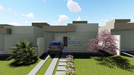 Casa Com 3 Dormitórios À Venda, 88 M² Por R$ 164.990 - Sítios Vale Das Brisas - Senador Canedo/goiás - Ca0173