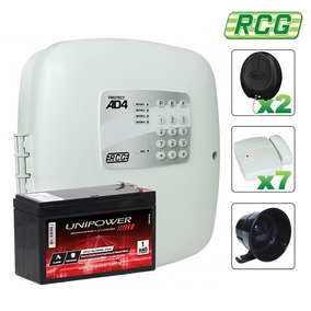 Kit Alarme Residencial Comercial Rcg Ad4 Sem Fio 07 Sensores