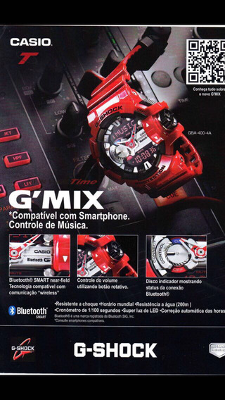 Relógio Casio G-shock Gba 400 Gmix Bluetooth Novo Original